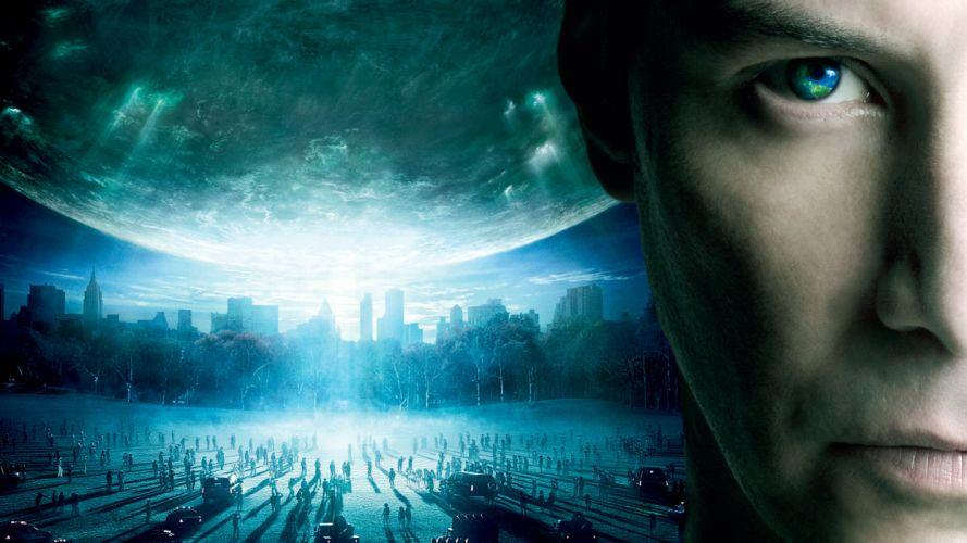 DAY THE EARTH STOOD STILL sci-fi apocalyptic city destruction horror dark wallpaper