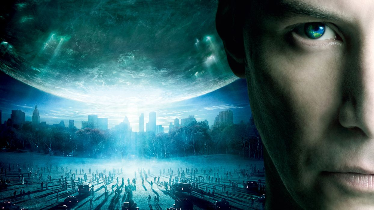 DAY THE EARTH STOOD STILL sci-fi apocalyptic city destruction horror dark wallpaper