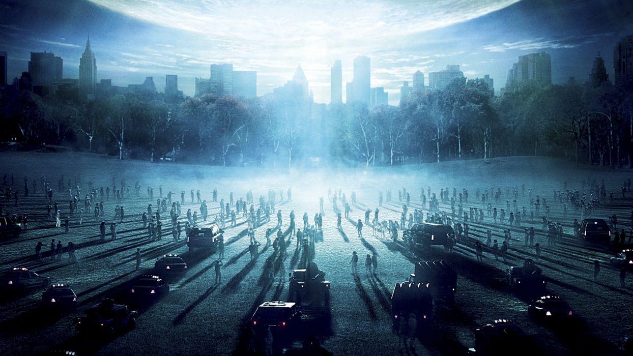 DAY THE EARTH STOOD STILL sci-fi apocalyptic city horror dark wallpaper