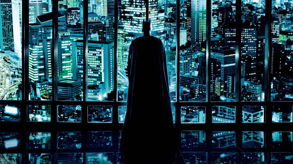 THE DARK KNIGHT batman superhero city window sup wallpaper