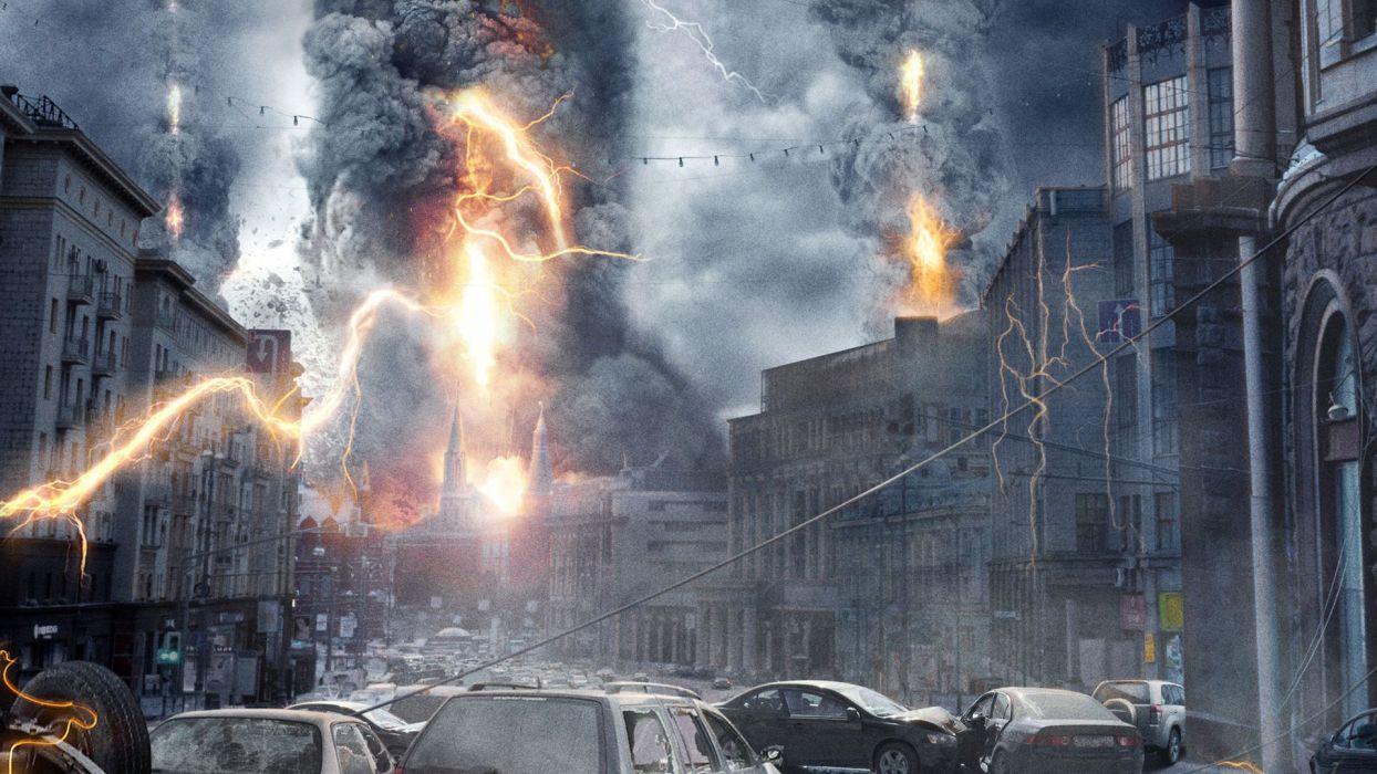 THE DARKEST HOUR dark horror sci-fi apocalyptic wallpaper