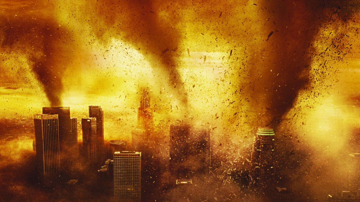 THE DAY AFTER TOMORROW apocalyptic dark sci-fi tornado horror wallpaper