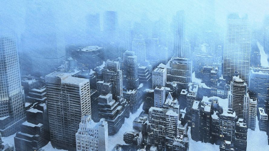THE DAY AFTER TOMORROW apocalyptic winter snow ice dark sci-fi city wallpaper