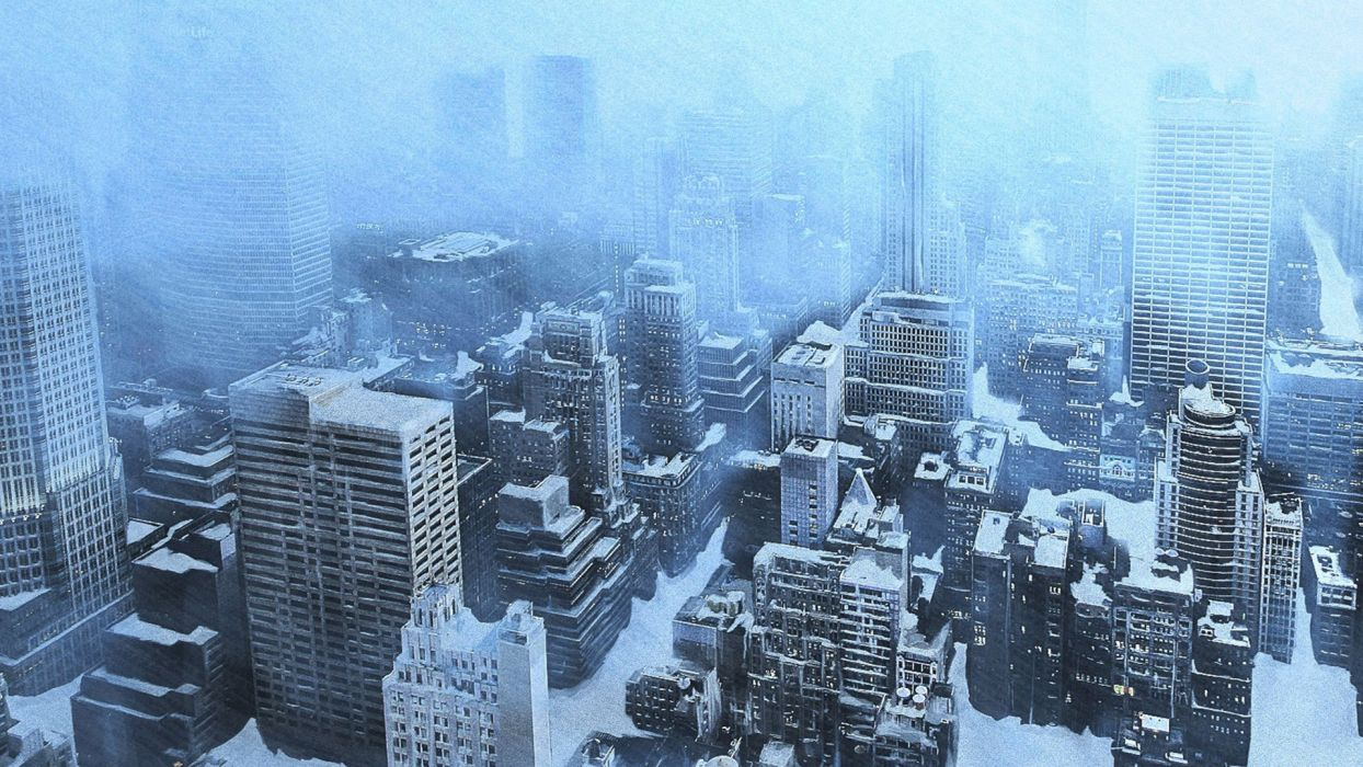 The Day After Tomorrow Apocalyptic Winter Snow Ice Dark Sci Fi