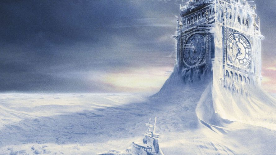 THE DAY AFTER TOMORROW apocalyptic winter snow ice dark sci-fi wallpaper