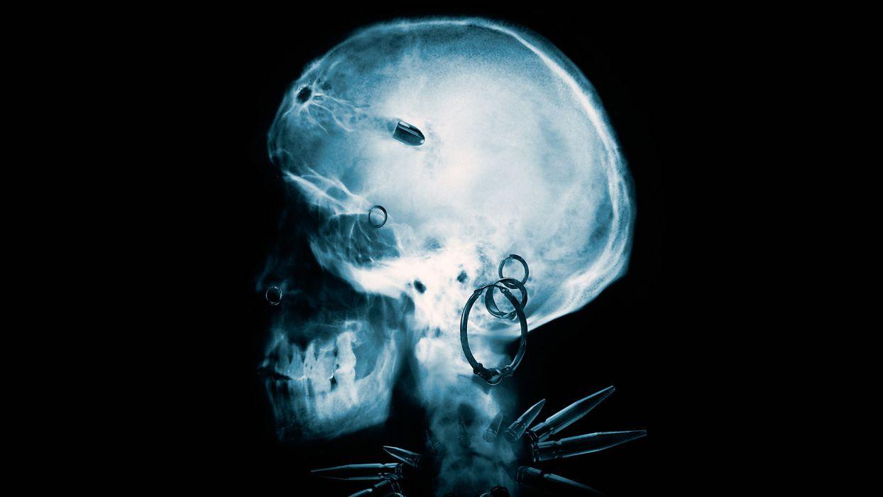 GIRL WHO KICKED THE HORNETS NEST x-ray skull skulls dark horror wallpaper