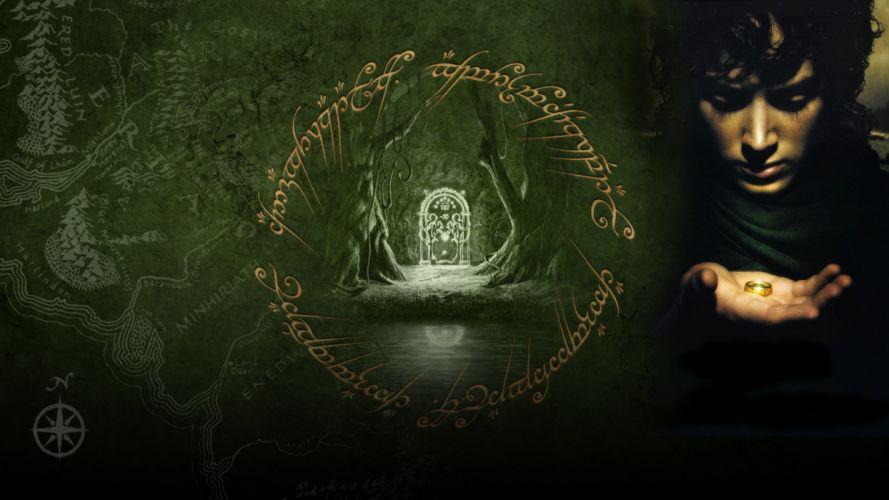 LORD OF THE RINGS FELLOWSHIP RING lotr fantasy f wallpaper