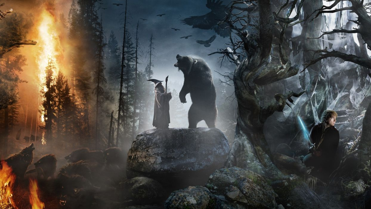 THE HOBBIT AN UNEXPECTED JOURNEY fantasy wallpaper