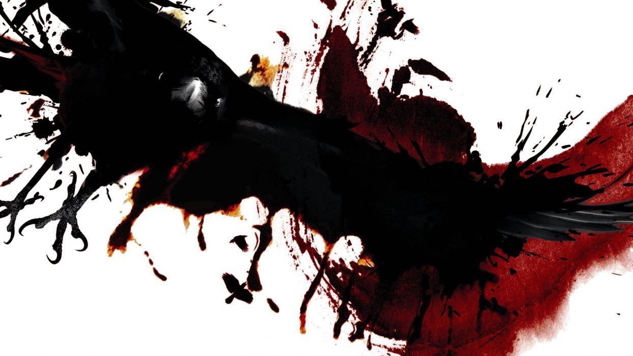 THE RAVEN dark blood wallpaper