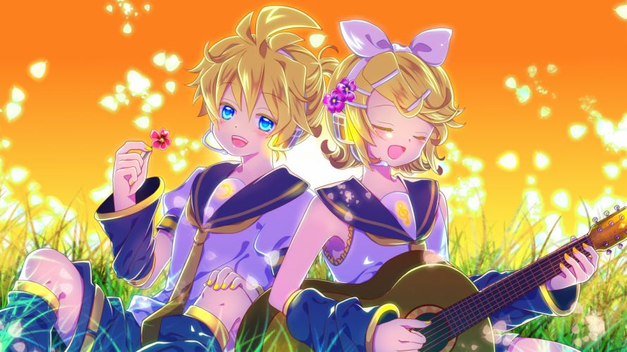 Vocaloid Kagamine Twins wallpaper