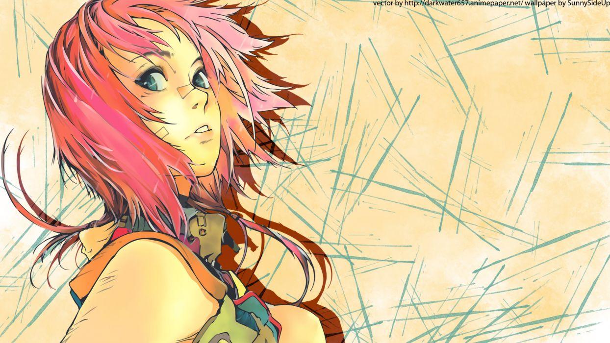 agharta blue eyes pink hair tagme (character) watermark wallpaper