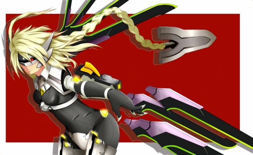 blazblue blonde hair mecha red wallpaper