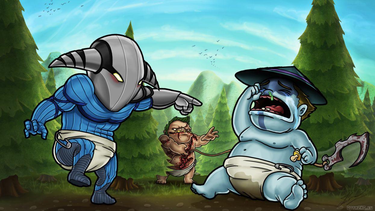 DOTA 2 Painting Art sven storm pudge Games Humor dark wallpaper