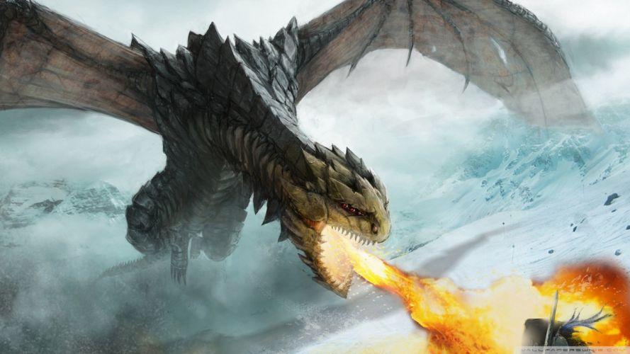 dragon dragons fantasy fire wallpaper