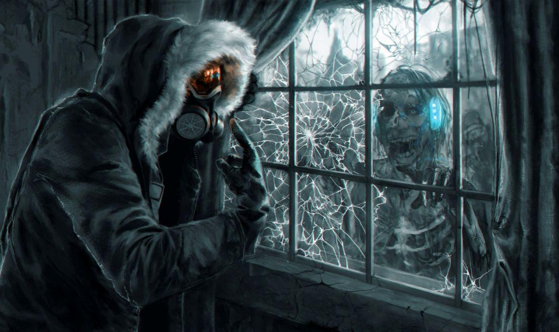 Heroes comics Romantically Apocalyptic Zombie Window Fantasy dark mask wallpaper
