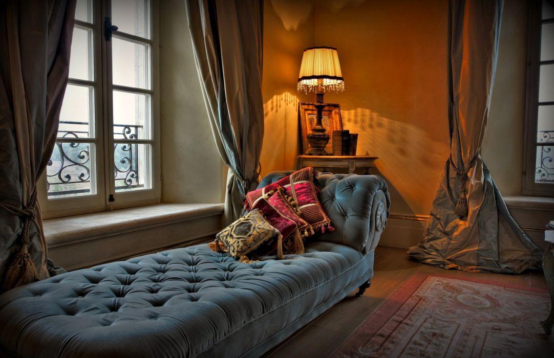 Interior Bed Design Lamp Window mood room wallpaper