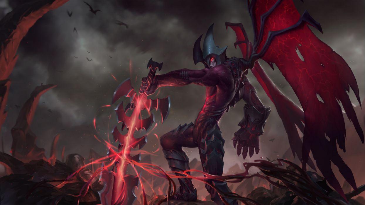 league of legends fantasy warrior demon wallpaper