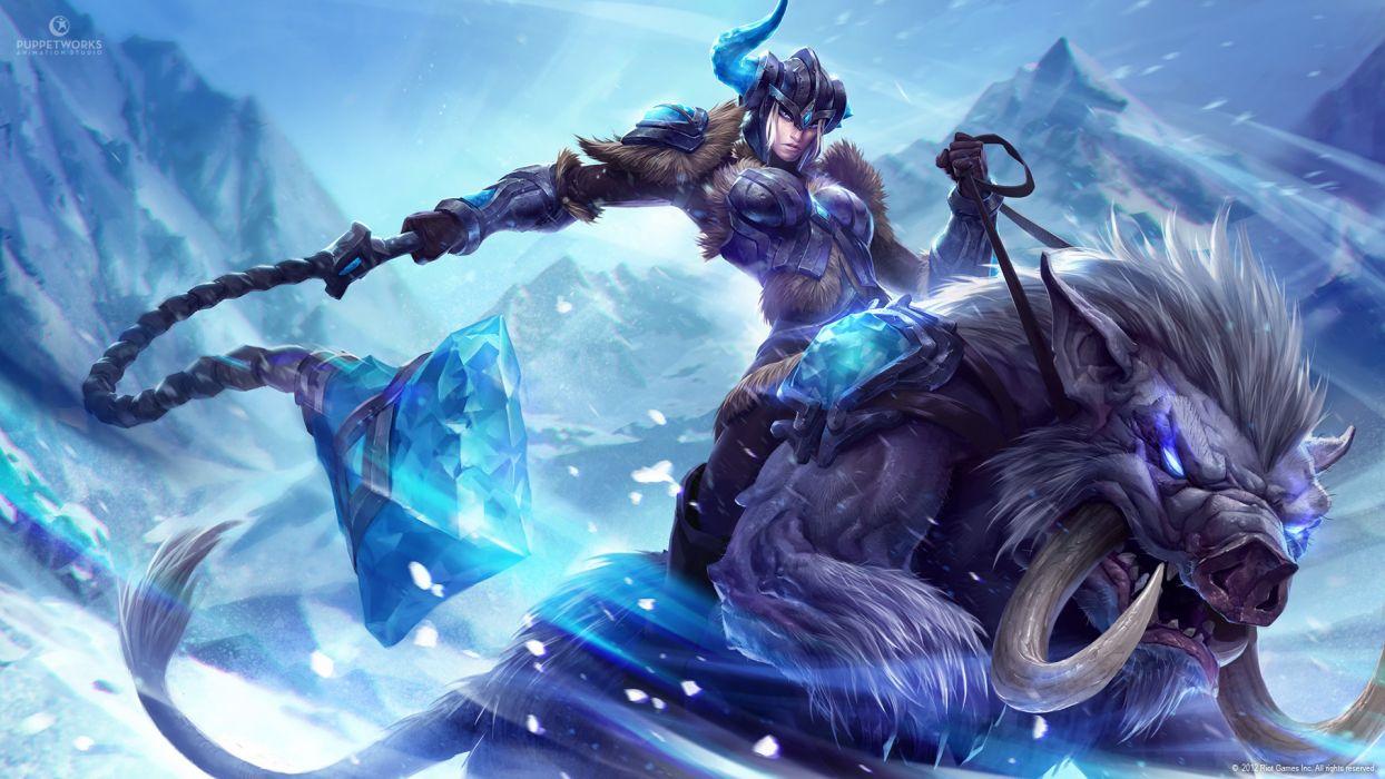 League of Legends Warriors Helmet Armor Games Girls warrior wallpaper