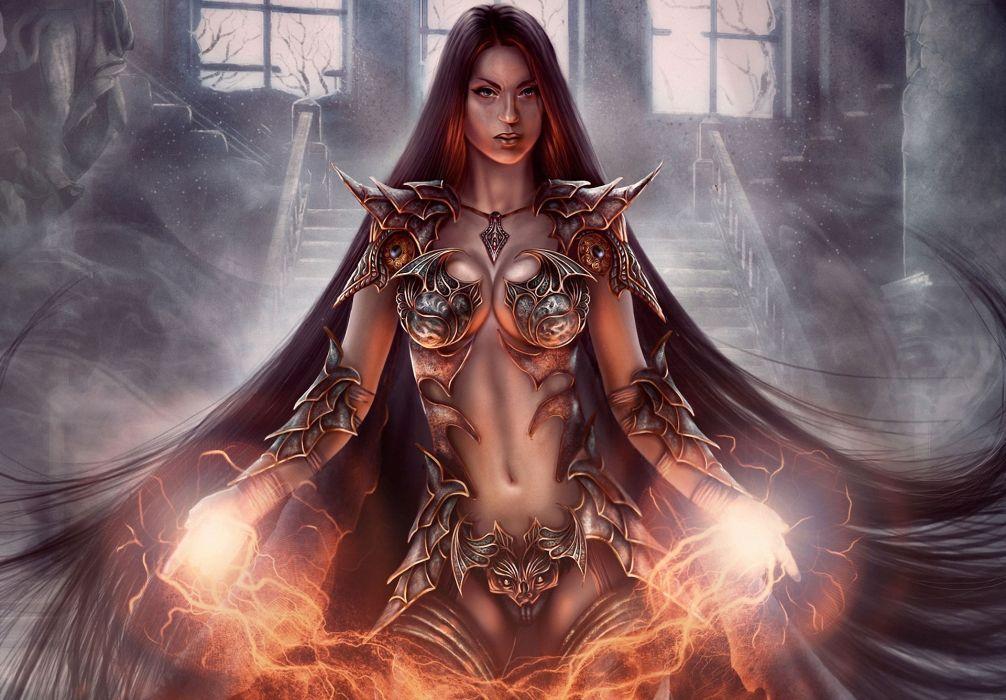 Warrior Fantasy Art Armor Angel Magic Wallpapers Hd: Magic Warriors Armor Fantasy Girls Warrior Wallpaper