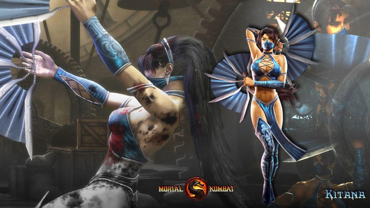 Mortal Kombat Warriors Kitana Games Girls Warrior Wallpaper