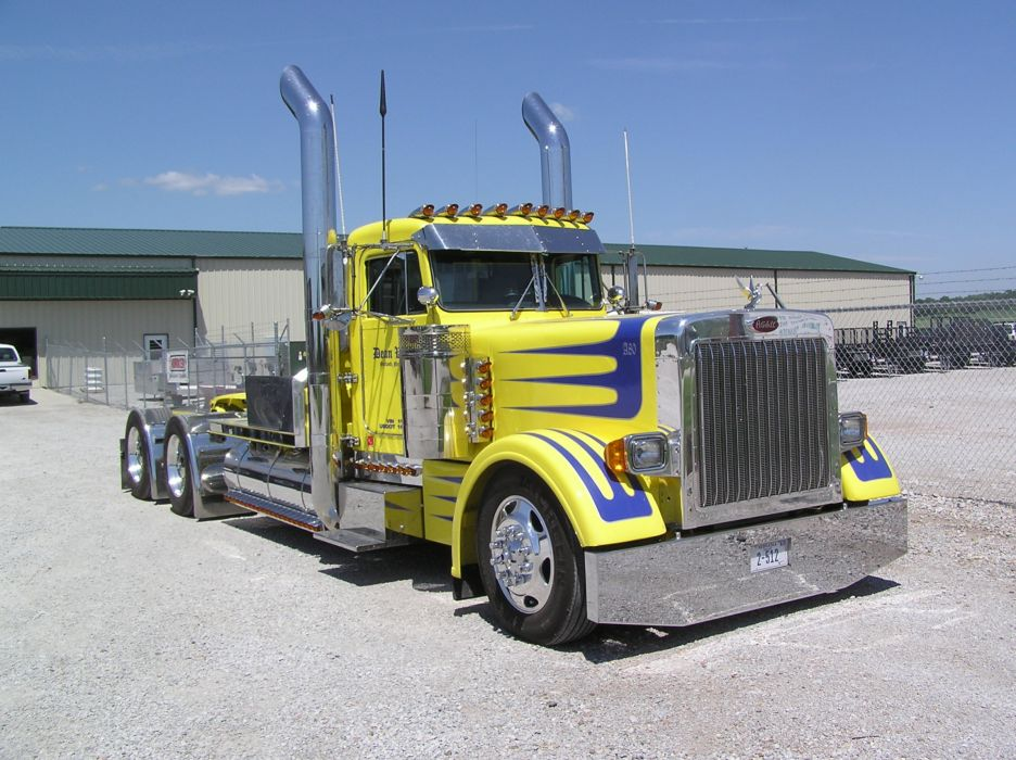 Peterbilt Trucks 359 Yellow semi tractor truck wallpaper