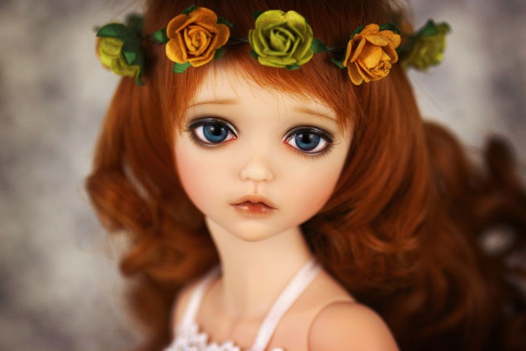 Toys Doll Glance Hair Brown haired dolls toy mood wallpaper