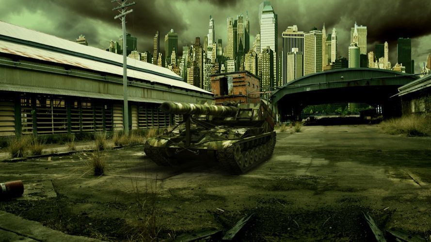World of Tanks SPG T92 Games Cities military wallpaper