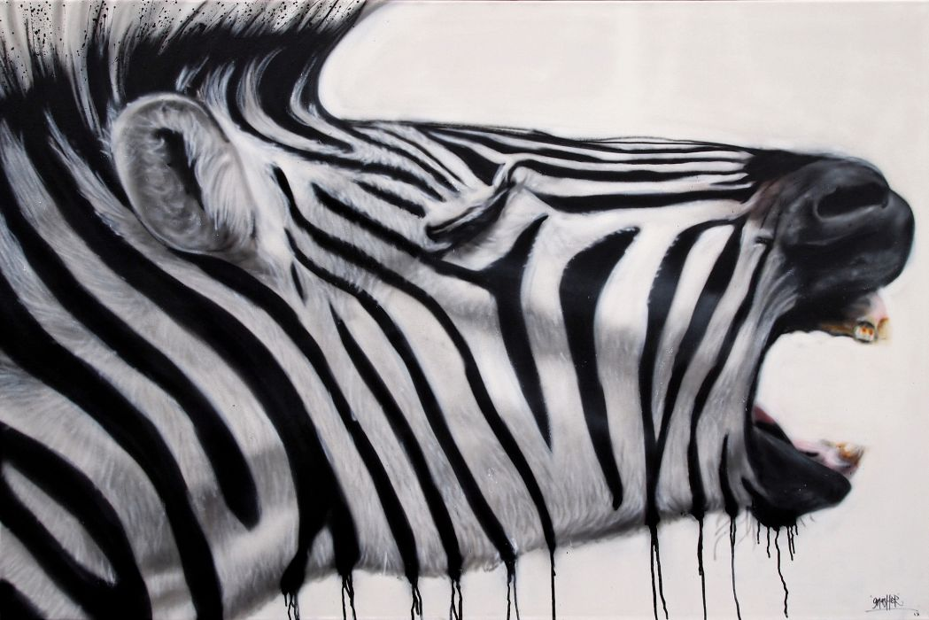 zebra psychedelic zebras pattern painting wallpaper