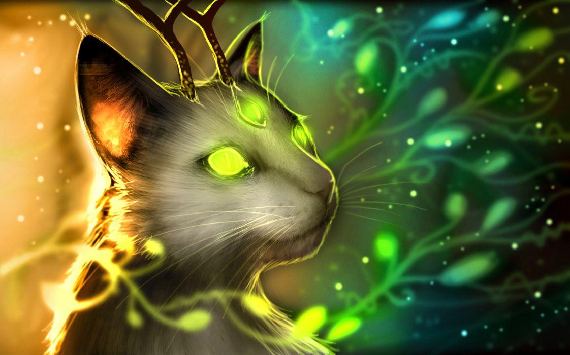 Romantically Apocalyptic heroes comics comic sci-fi futuristic dark cat cats glow magic radiation fantasy wallpaper