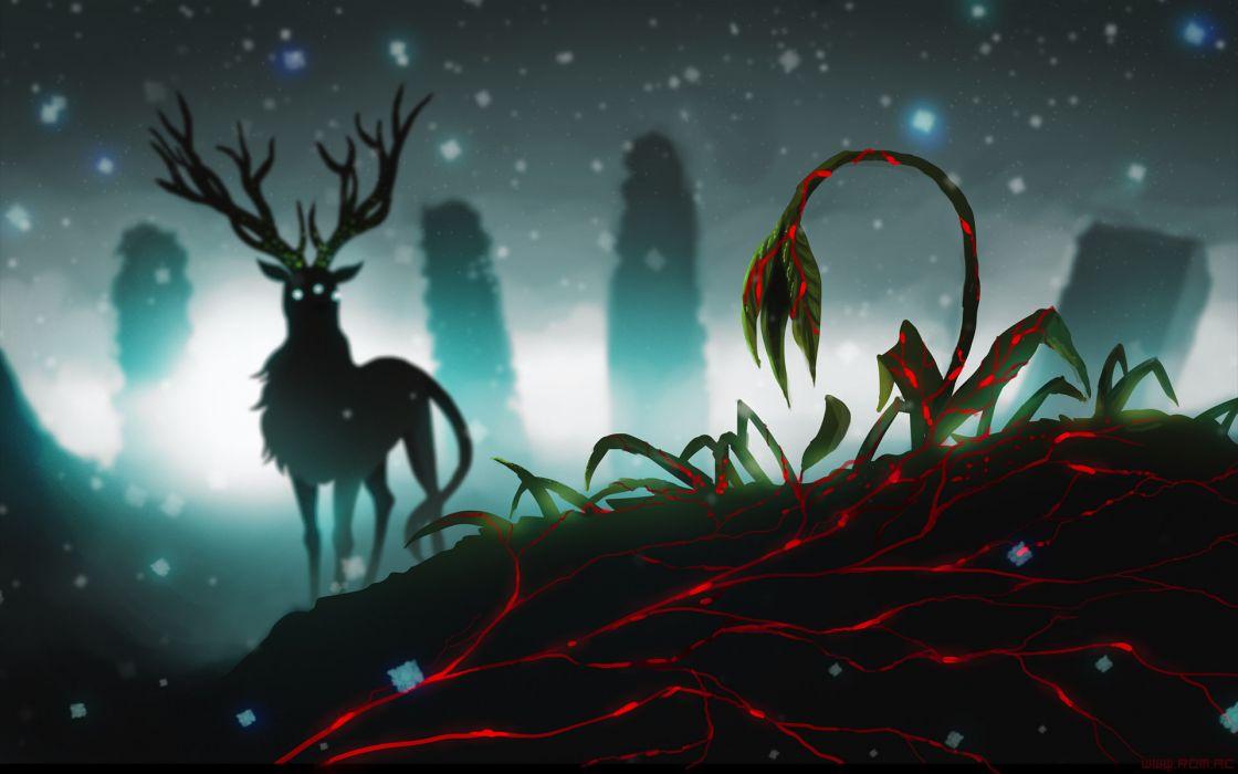 Romantically Apocalyptic heroes comics comic sci-fi futuristic dark deer flower fantasy wallpaper