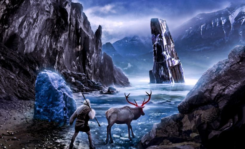 Romantically Apocalyptic heroes comics comic sci-fi futuristic dark deer fantasy wallpaper