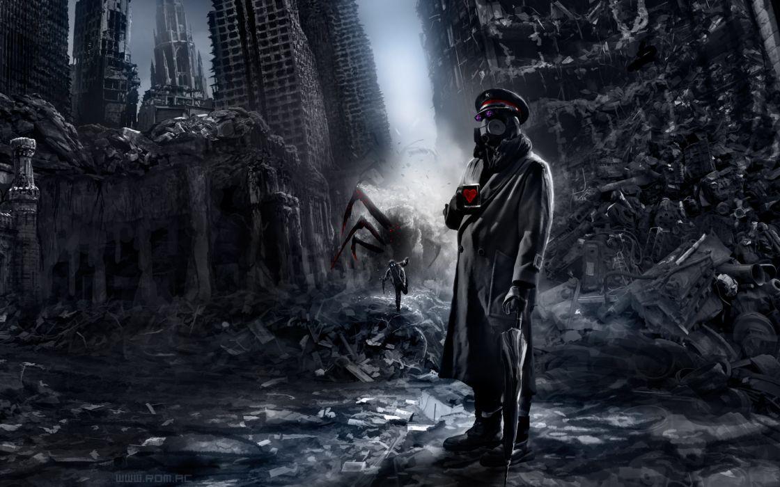 Romantically Apocalyptic heroes comics comic sci-fi futuristic dark mask     fs wallpaper
