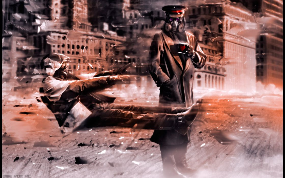 Romantically Apocalyptic heroes comics comic sci-fi futuristic dark mask     f wallpaper