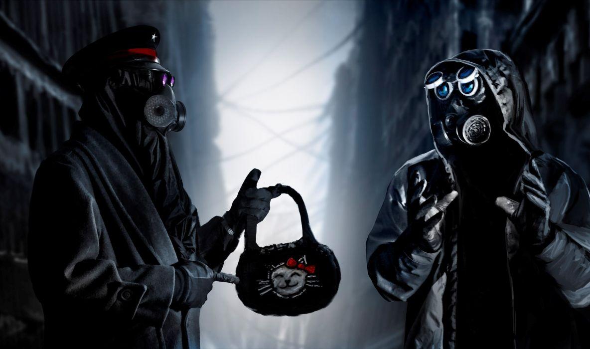 Romantically Apocalyptic heroes comics comic sci-fi futuristic dark mask hello kitty wallpaper