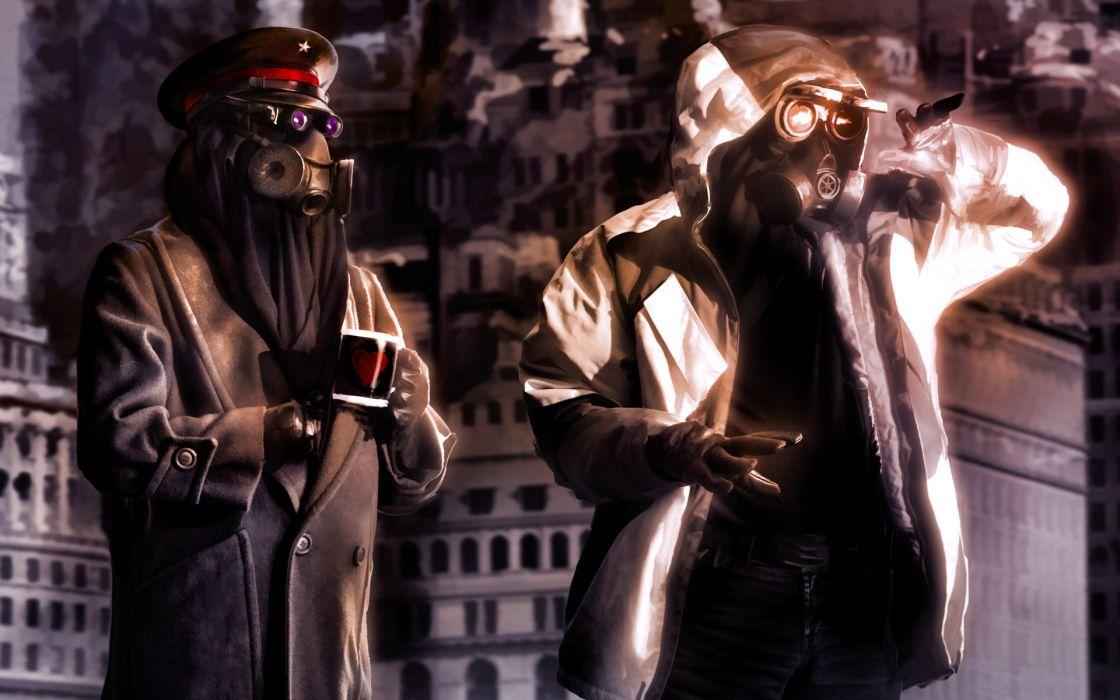 Romantically Apocalyptic heroes comics comic sci-fi futuristic mask dark     da wallpaper