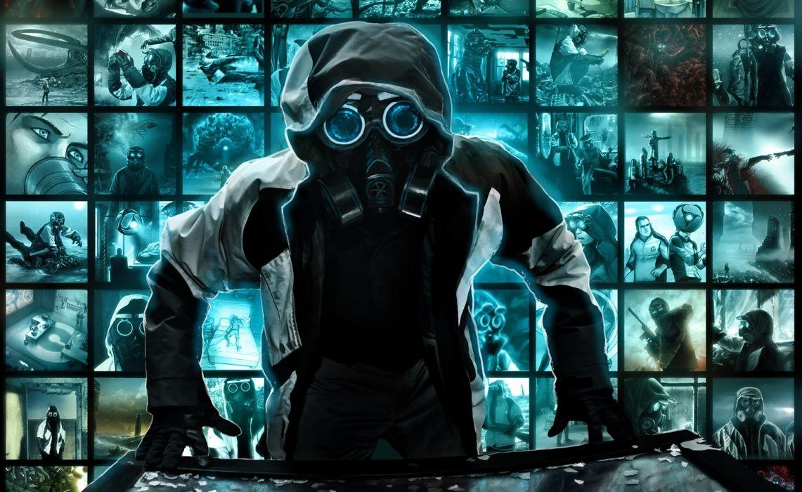 Romantically Apocalyptic heroes comics comic sci-fi futuristic mask dark tile tiles collage      d wallpaper