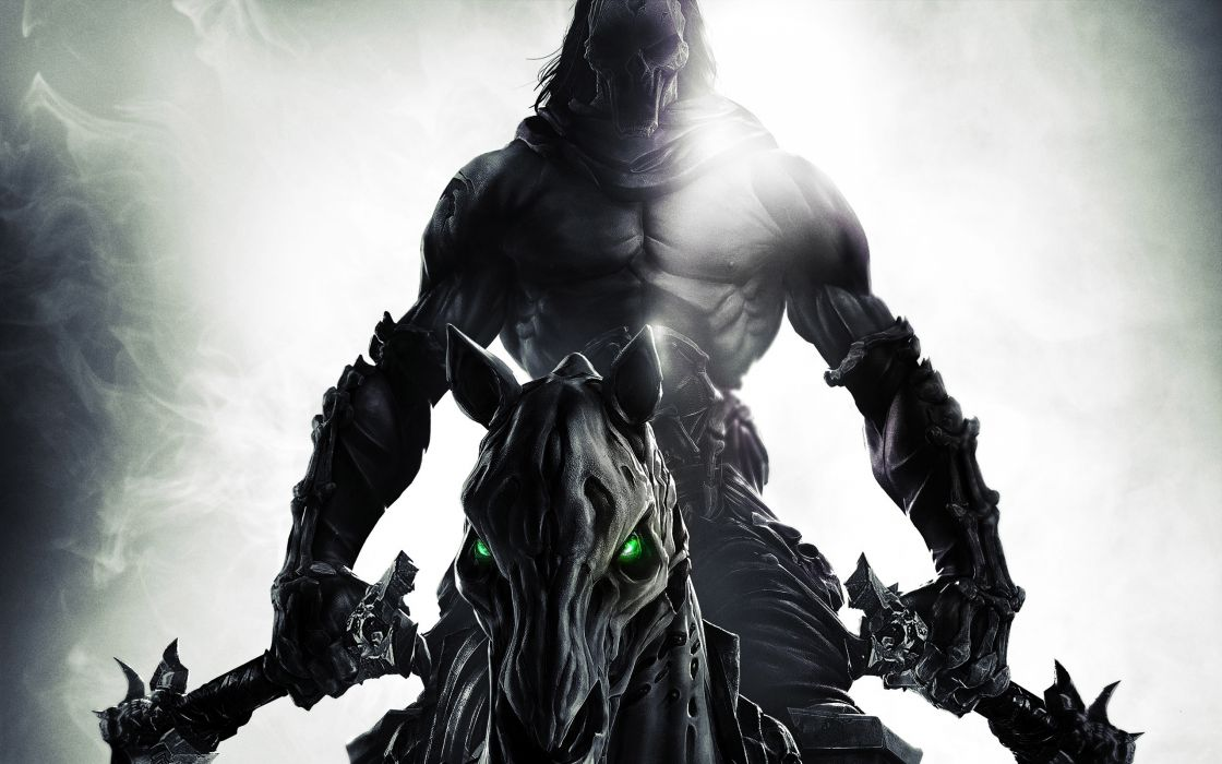 Darksiders II Undead Warriors Scythe Games grim reaper dark fantasy weapon  3 wallpaper