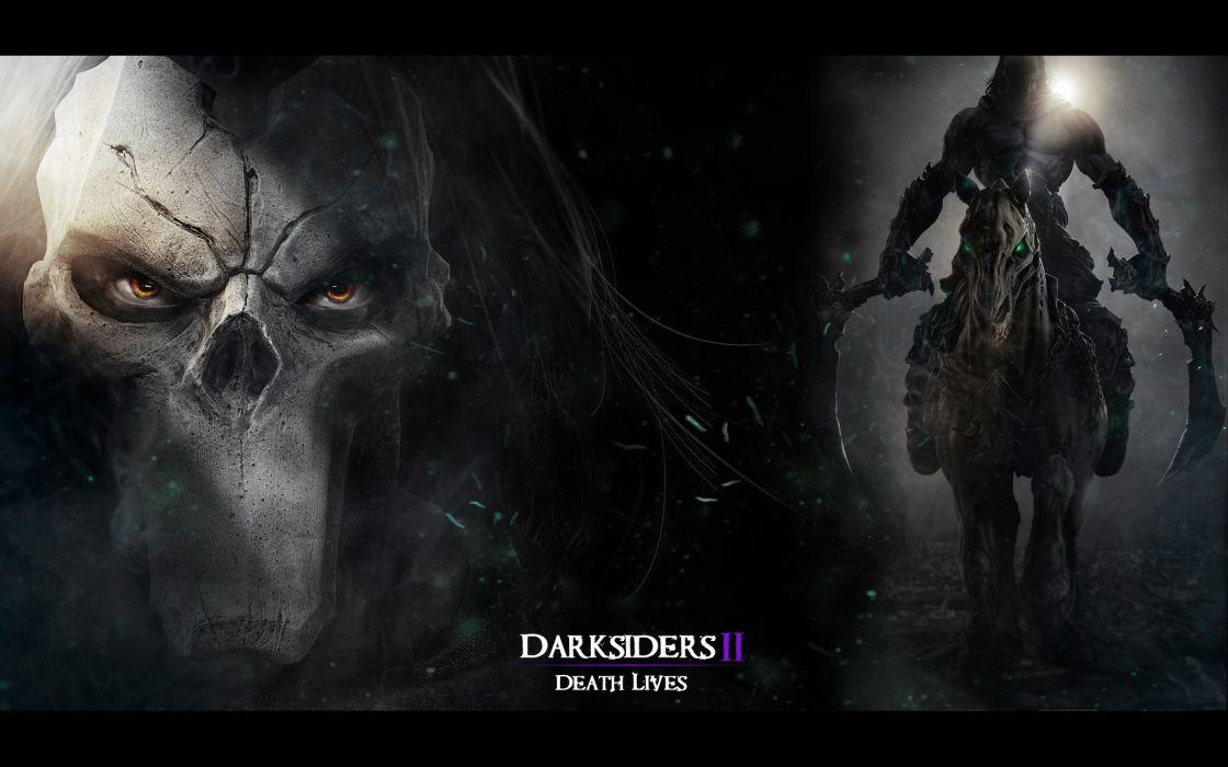 Darksiders II Undead Warriors Scythe Games grim reaper dark fantasy weapon  e wallpaper