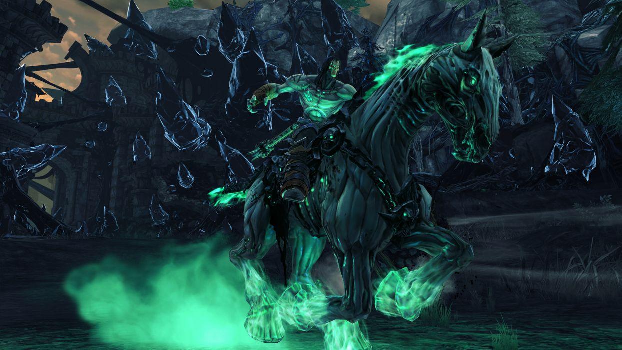 Darksiders II Undead Warriors Scythe Games grim reaper dark fantasy weapon magic wallpaper