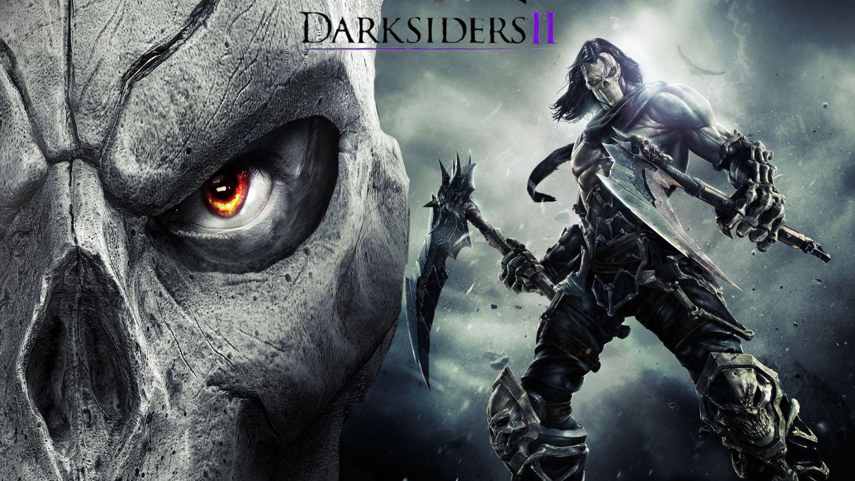 Darksiders II Undead Warriors Scythe Games grim reaper dark fantasy weapon warrior     f wallpaper