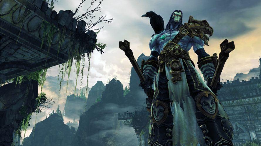 Darksiders II Undead Warriors Scythe Games grim reaper dark fantasy weapon warrior wallpaper