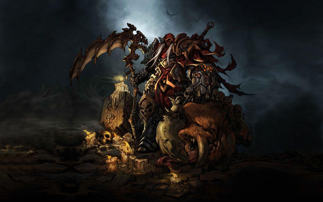 Darksiders Undead Warriors Scythe Games grim reaper dark fantasy weapon  e wallpaper