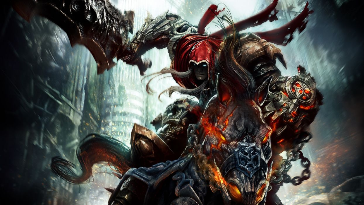 Darksiders Wrath War undead sci-fi reaper dark fantasy   r wallpaper