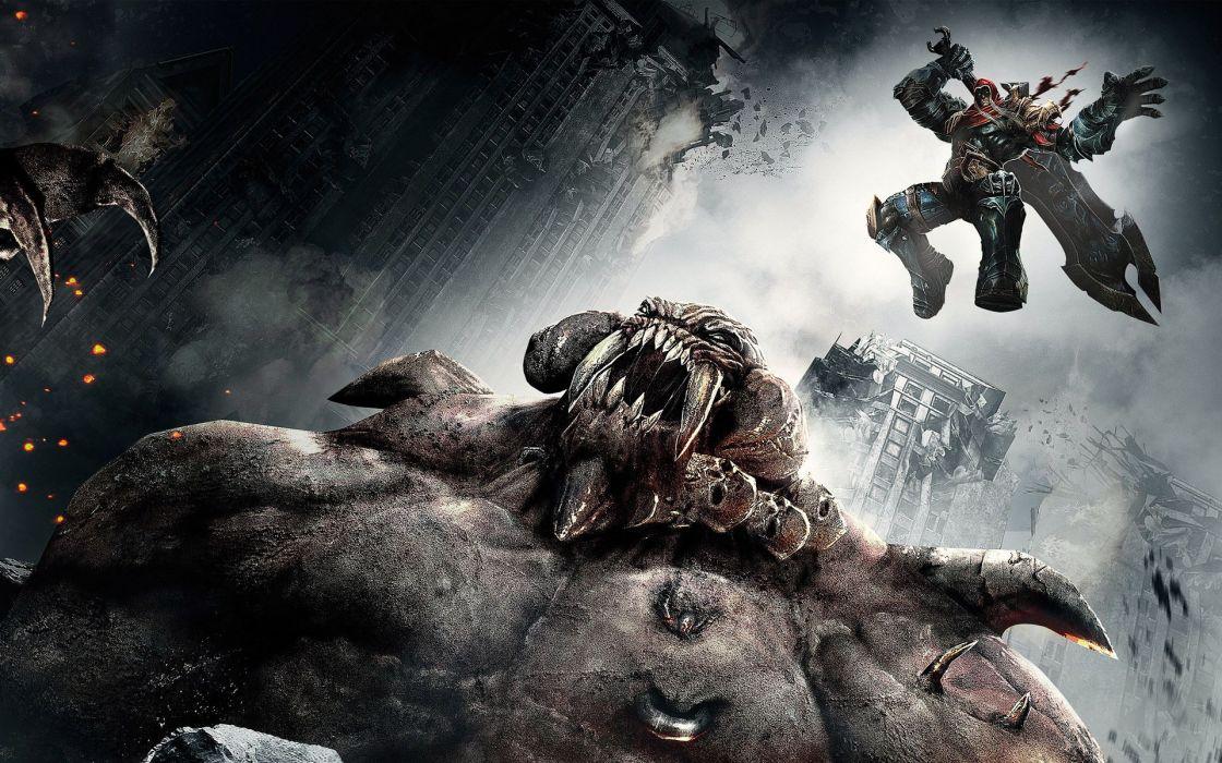 Darksiders Wrath War undead sci-fi reaper dark fantasy demon monster wallpaper