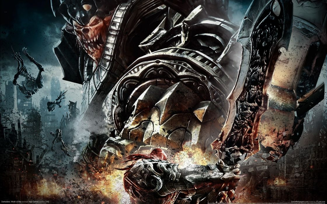 Darksiders Wrath War undead sci-fi reaper mecha dark fantasy wallpaper