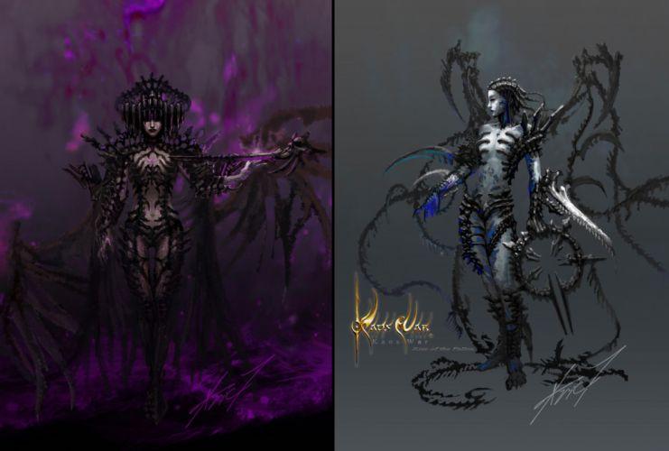 Kaos War Warhammer 40K fantasy dark gothic art games wallpaper
