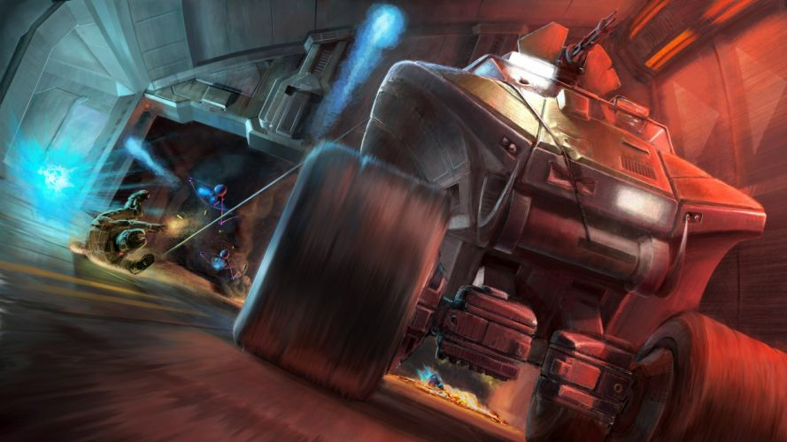 sci-fi futuristic battle weapon gun vehicle military wallpaper