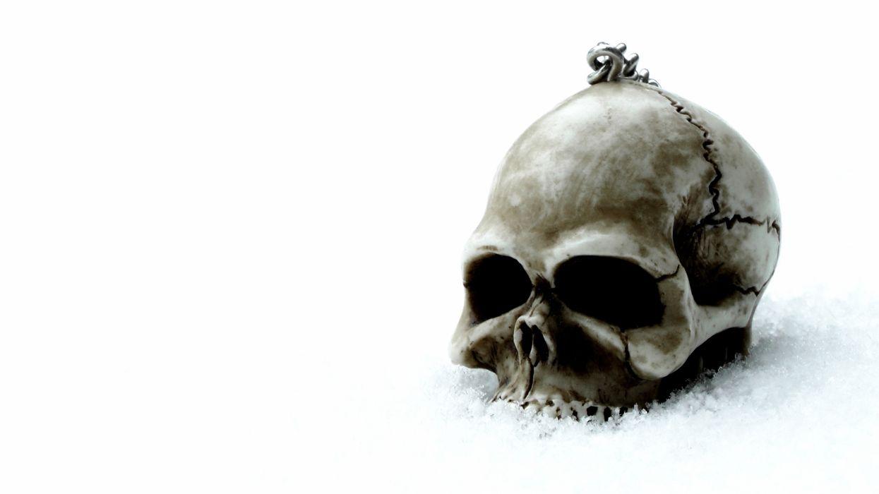 gothic skull skulls dark wallpaper