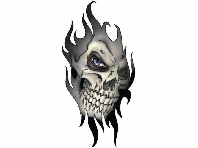 skull skulls dark d wallpaper