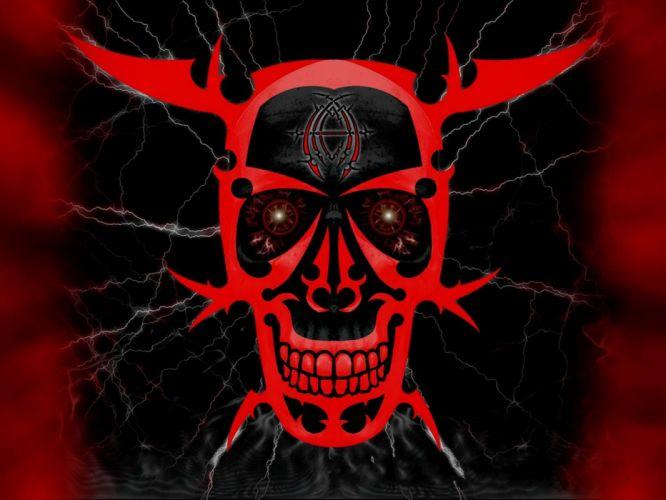 skull skulls dark demon satanic satan evil occult f wallpaper